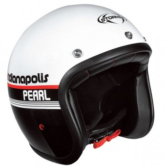 Casque Jet Stormer Pearl Indianapolis Noir Blanc