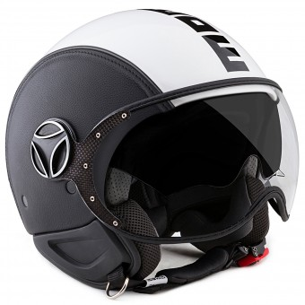 Casque Jet Momo Design Phantom Black White