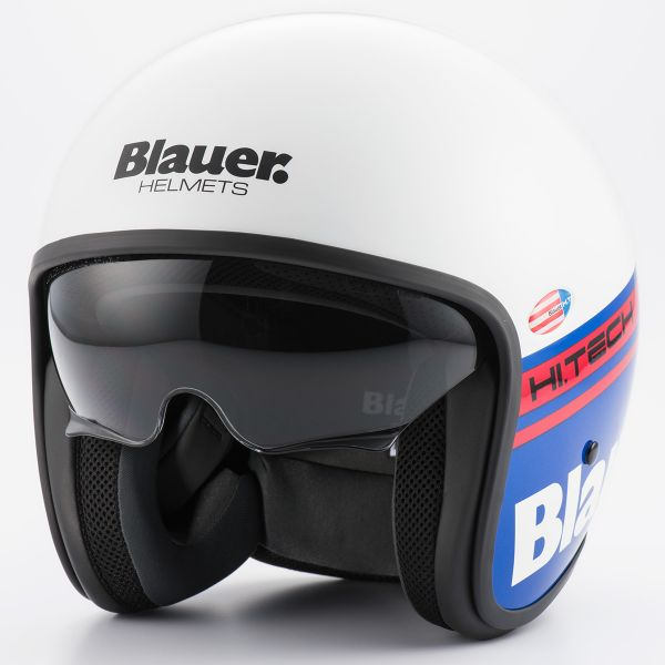 Casque Jet Blauer Pilot 1.1 White Blue