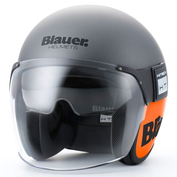 Casque Jet Blauer Pod Titane Orange Mat