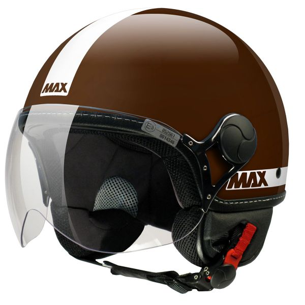 Casque Jet MAX Power Marron
