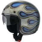 Casque Jet Airoh Riot Flame Blue