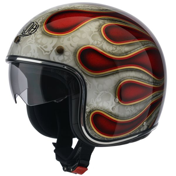 Casque Jet Airoh Riot Flame Red