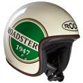 Casque moto Roof Roadster Liberty Creme Vert