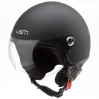 Casque Jet LEM Roger Black Powder