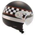 Casque moto Roof RO4 Pacer Noir Mat Damier