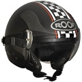 Casque moto Roof RO6 Winner Noir Mat Damier