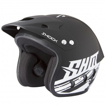Casque Jet SHOT Shock Quad Deco Matt Black