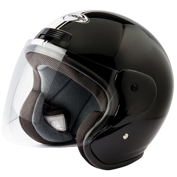 Casque Jet Stormer Sun Strip Black White