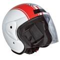 Casque moto Stormer Sun Strip Blanc Rouge