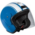 Casque moto Stormer Sun Strip Bleu Blanc