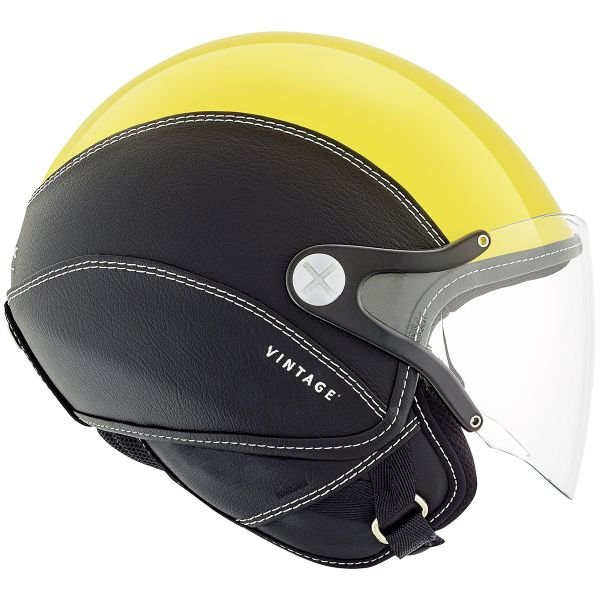 Casque Jet Nexx SX.60 Vintage 2 Yellow Black
