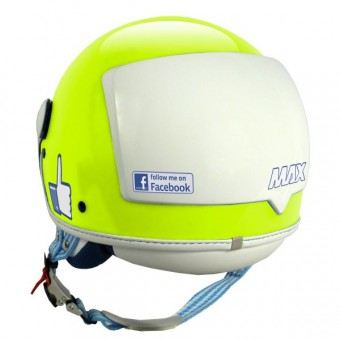 Casque Jet MAX The Social Network Jaune