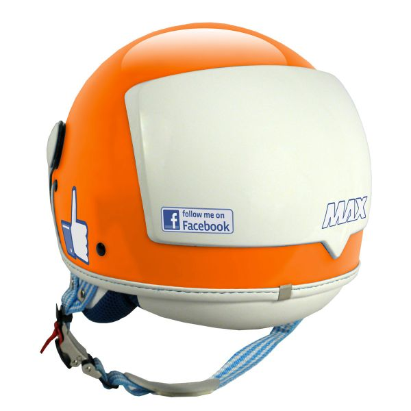 Casque Jet MAX The Social Network Orange