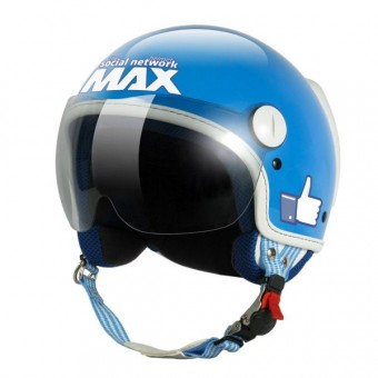 Casque Jet MAX The Social Network Turquoise