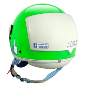 Casque Jet MAX The Social Network Vert