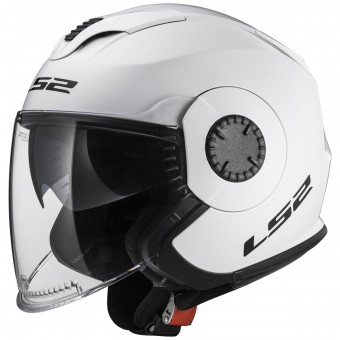 Casque Jet LS2 Verso White OF570