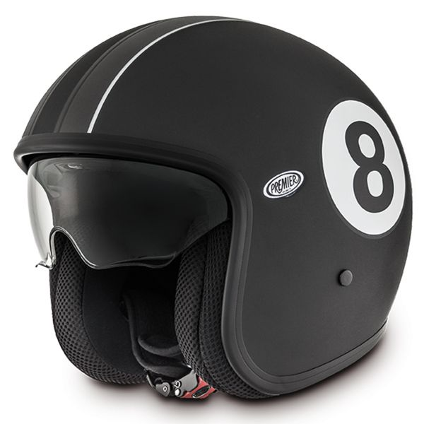 Casque Jet Premier Vintage Eight 9bm Noir Mat