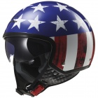 Casque Jet LS2 Wave Raw Blue Red White OF561