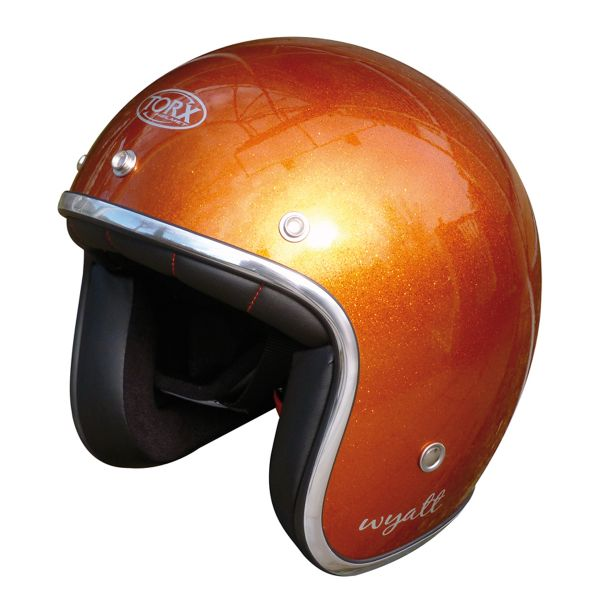 Casque Jet Torx Wyatt Glitter Orange