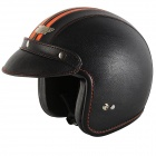 Casque Jet Nitro X580 Cuir Noir Orange