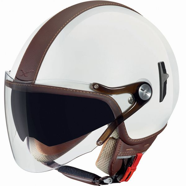 Casque Jet Nexx X60 Cruise Blanc Marron