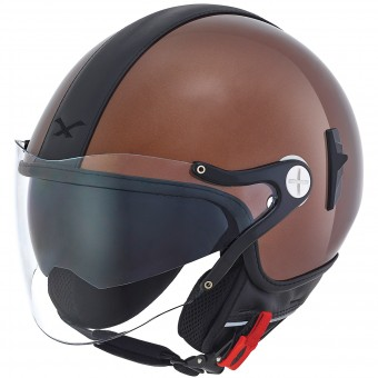 Casque Jet Nexx X60 Cruise Marron Noir