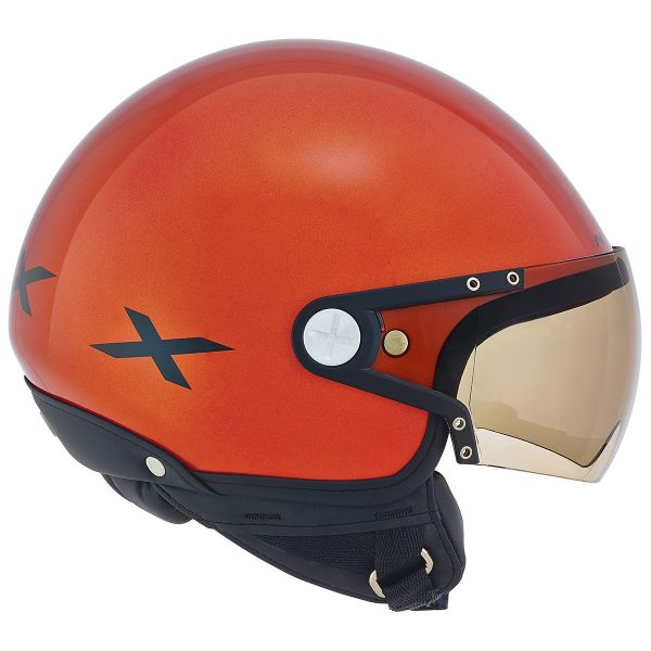 Casque Jet Nexx X60 Rap Orange Noir