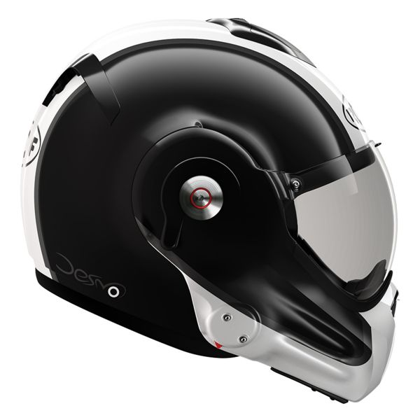 Casque Modulable Roof Desmo Flash Black Pearl White 3e Generation