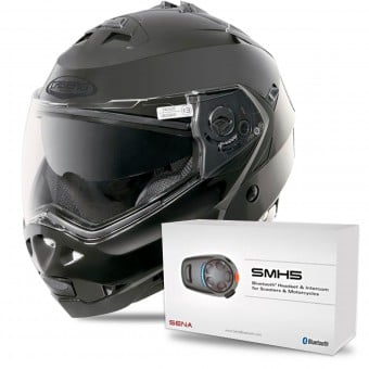 Casque Modulable Caberg Duke II Smart Black + Kit Bluetooth Sena SMH5