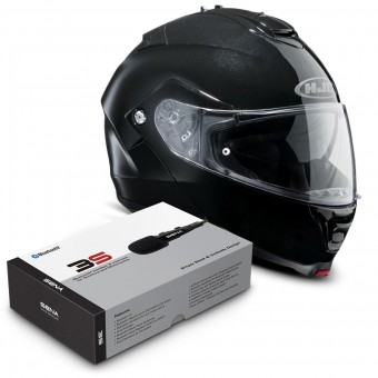 Casque Modulable HJC IS-MAX II Noir + Kit Bluetooth Sena 3S