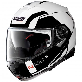 Casque Modulable Nolan N100 5 Consistency N-Com Metal White 19
