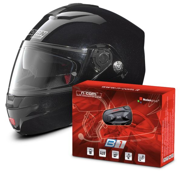 Casque Modulable Nolan N91 Evo Special N-Com Black 12 + Kit Bluetooth B1