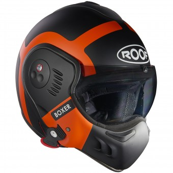 Casque Modulable Roof Boxer V8 Bond Matt Black Orange