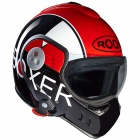 Casque Modulable Roof Boxer V8 Grafic Noir Rouge