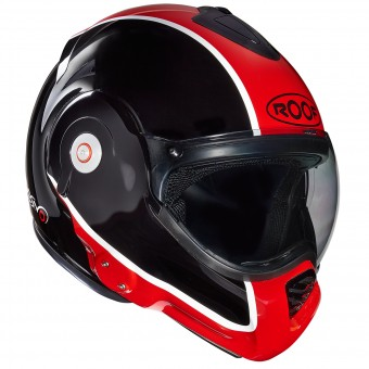 Casque Modulable Roof Desmo Flash Noir Rouge