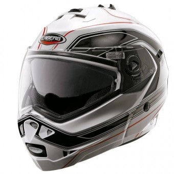 Casque Modulable Caberg Duke Booster Blanc Noir