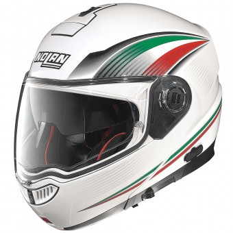 Casque Modulable Nolan N104 Absolute Italy N-Com White 53