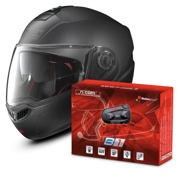 Casque Modulable Nolan N104 Absolute Special N-Com Black Graphite 9 + Kit Bluetooth B1
