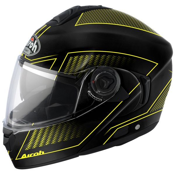 Casque Modulable Airoh Rides Land Yellow Matt