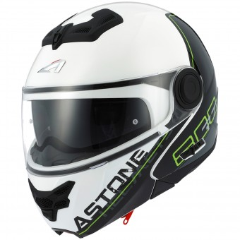 Casque Modulable Astone RT 800 Linetek Green White