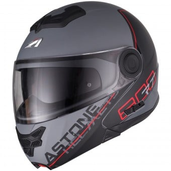Casque Modulable Astone RT 800 Linetek Red Grey