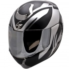 Casque Modulable Scorpion Exo 900 Air Virtuose Noir Chrome Mat Brillant