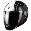 Casque moto Scorpion EXO 300 Air Grid Noir Blanc