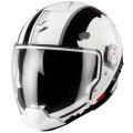 Casque moto Scorpion EXO 300 Air Gunner Blanc Noir