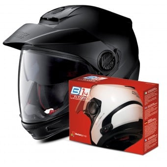 Casque Transformable Nolan N40 5 GT Fade Flat Anthracite 17 + Kit Bluetooth B1.4