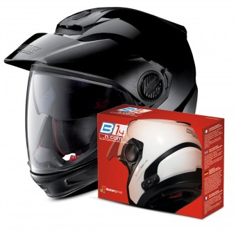 Casque Transformable Nolan N40 5 GT Fade Silver 18 + Kit Bluetooth B1.4