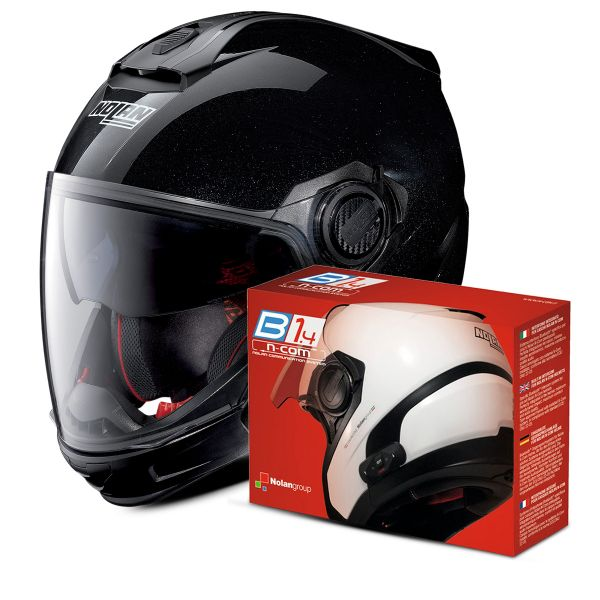Casque Transformable Nolan N40 5 GT Special N-Com Black 12 + Kit Bluetooth B1.4