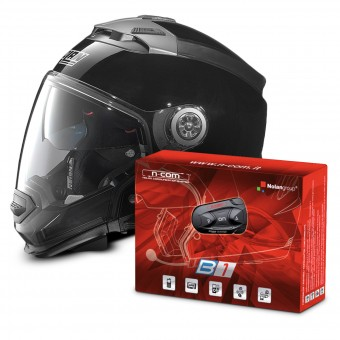Casque Transformable Nolan N44 Evo Classic N-Com Black 3 + Kit Bluetooth B1
