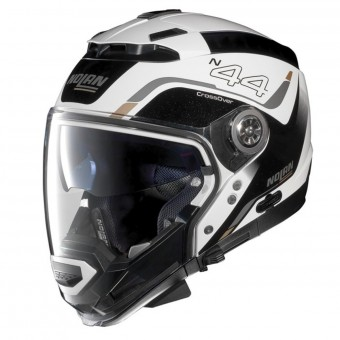 Casque Transformable Nolan N44 Evo Viewpoint N-Com Metal White 52